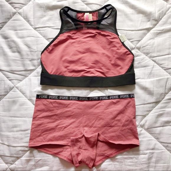 PINK Victoria's Secret Other - Vs Pink Racerback Sports Bra & Panty Set
